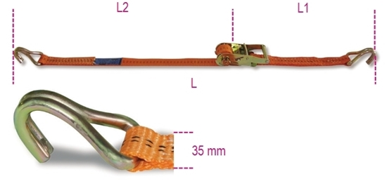 Picture of Ratel-sjorband 8181 met haak 4M - 1.000 kg.