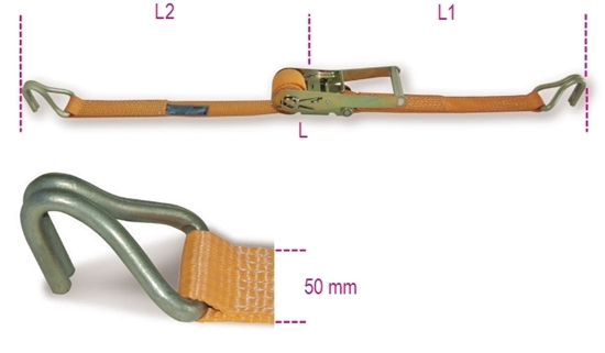 Picture of Ratel-sjorband 8182 met haak 6.5M - 2.000 kg.