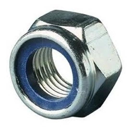 Afbeelding van Zelfborg. 6-kantmoer+nylon ring DIN985 ELVZ M24