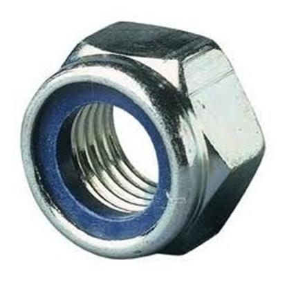 Afbeeldingen van Zelfborg. 6-kantmoer+nylon ring DIN985 ELVZ M16